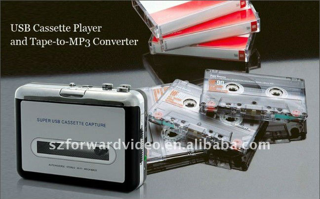USB tape to MP3 converter USB cassette player converter to MP3 EzCAP218-2