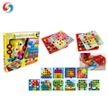 Hot sale 10 pattern Button mushroom nail puzzle toy games