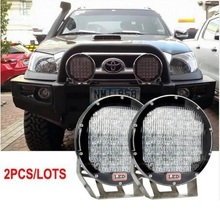 Super Bright 9 Inch 320W Red Black Led Work Lights For Wrangler Hilux Offroad Truck 12V 24V 320W Led Off Road 4x4 lamps