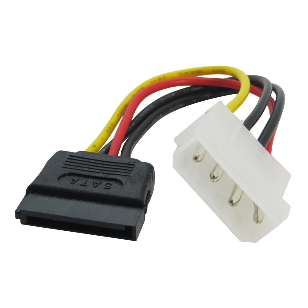 15 Pin SATA Female to Molex IDE 4 Pin Male Adapter Extension Power Supply Cable