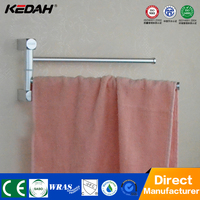 Unique aluminium material wall hanging bathroom rotating towel bar
