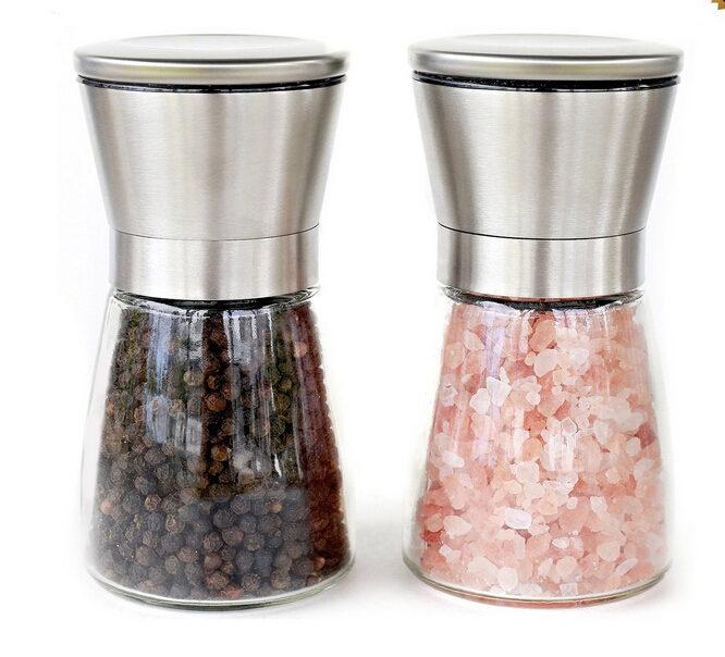 Salt and Pepper Shakers Amazon Matching Stand - Salt and Pepper Grinders - Spice Grinder with Adjustable Coarseness