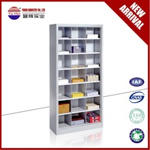 Steel open shelves file cabinet /gray high quality bookcase