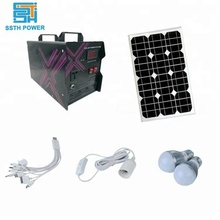 Portable home camping solar cell mono poly panel energy storage generator system mini off grid solar power system