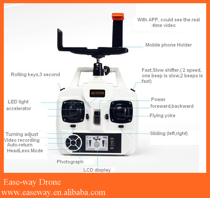 drone quadcopter ufo dengan kamera <strong>mini</strong> 2.4g 4ch 4 axis quadcopter, Guba finder GPS drone UAV