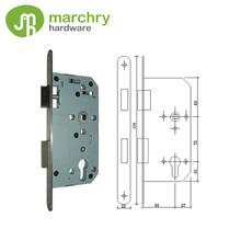 Stainless Steel European Standard Outward Opening Door Locks