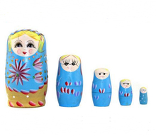 wooden wholesale custom russian nesting doll for kids