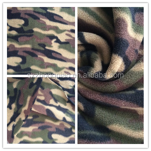Hot Sale Camouflage Printing DTY Two Side Brushed One side Anti-pilling Polar Fleece Fabric for Garment and Blanket