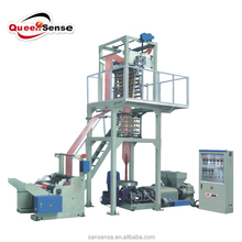 hdpe ldpe double color film making machine/ 2 color film blowing machine for PE stretch film/ plastic film machine manufacturer