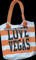 Las Vegas orange printed reusable cotton/canvas bag