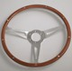 "China 14"" Polished Classic Laminated Wood Steering Wheel for Ford Mustang"