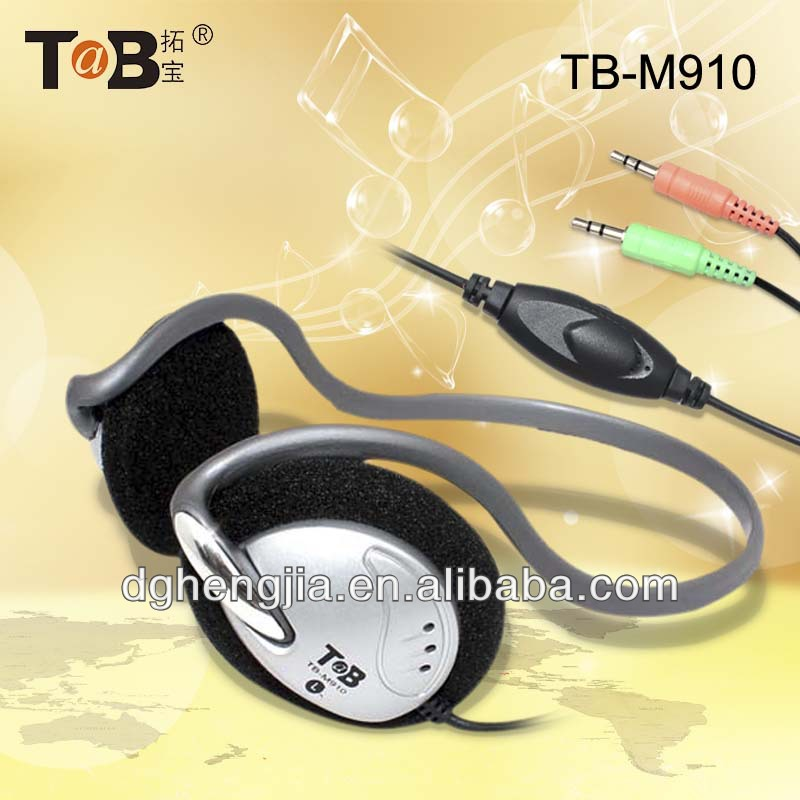 china factory Tablet PC Smart cell phone 2015 lastest neckband stereo headphones with mic and volume control