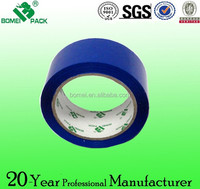 Blue colored adhesive packing tape with clolorful