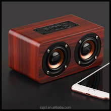 2017 New Dual Mode Wireless Bluetooth Speaker HIFI Wooden Bluetooth Speaker With TF Card Handfree