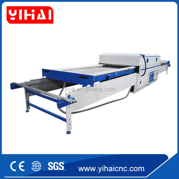 Double work table PVC foil Vacuum Membrane Press machine for furniture laminate and kitchen cabinet door
