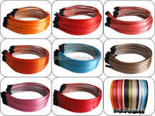 5mm satin covered DIY metal hair bands