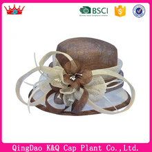 For Sale Fashionable Brown Ladies Sinamay Church Hats