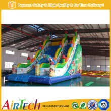 popular playground toy cheap inflatable water slides for sale