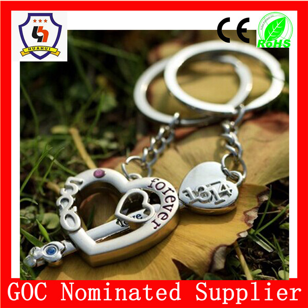 romantic lover keychain keyring,Key Chain Parts for beautiful keychains (HH-key chain-902)