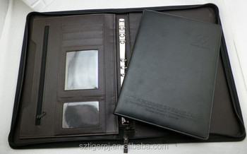 2015 Latest High end leather portfolio with factory price