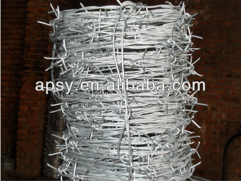 china galvanized security fence with barbed wire