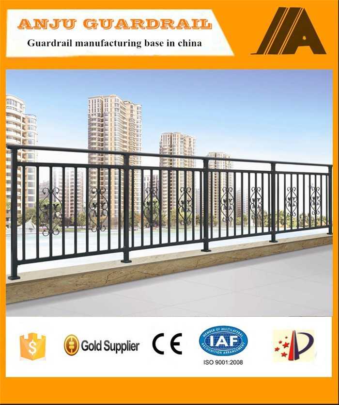Beautiful and stronger decorative balcony steel grill designs YT010
