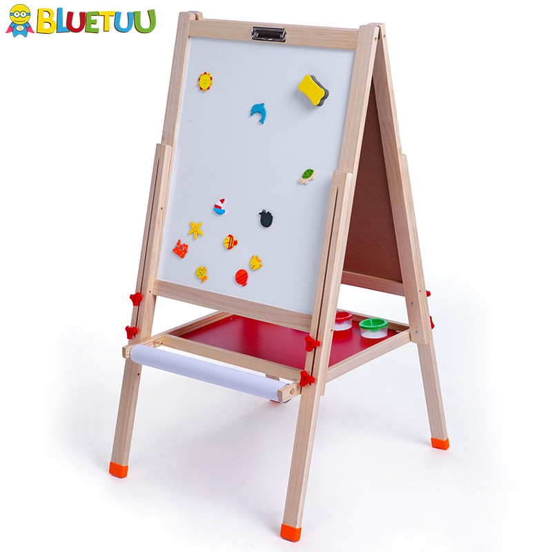 Wood kids drawing easel boards for paint and write