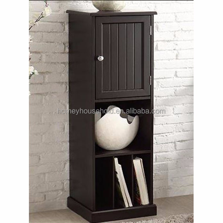 Wholesale modern simple corner cabinet wooden white KD plywood bookcase