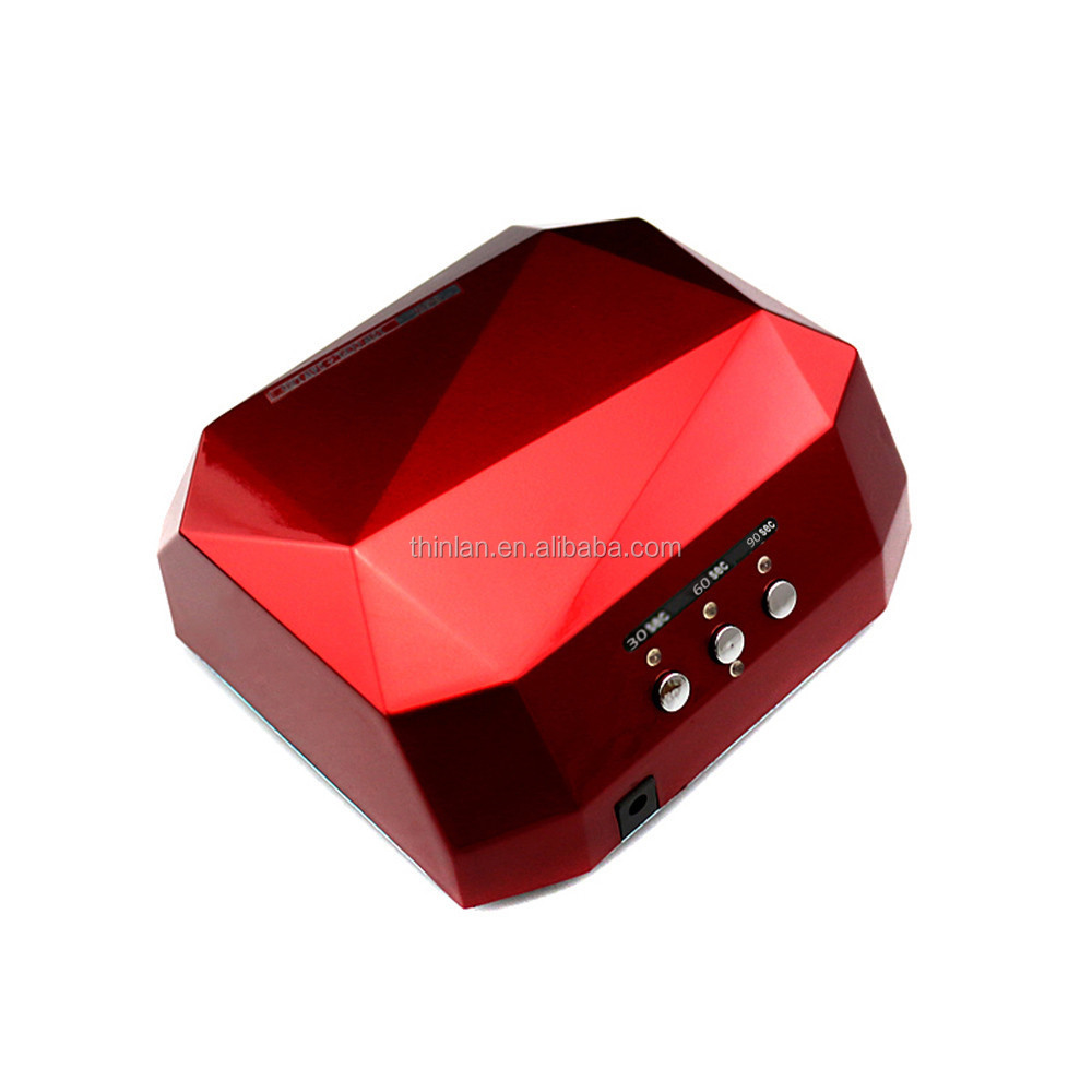 Diamond shape nail polish and dryer uv gel machine Fast Dry led uv 36w ccfl lampada led chiodo per unghie gel for nail