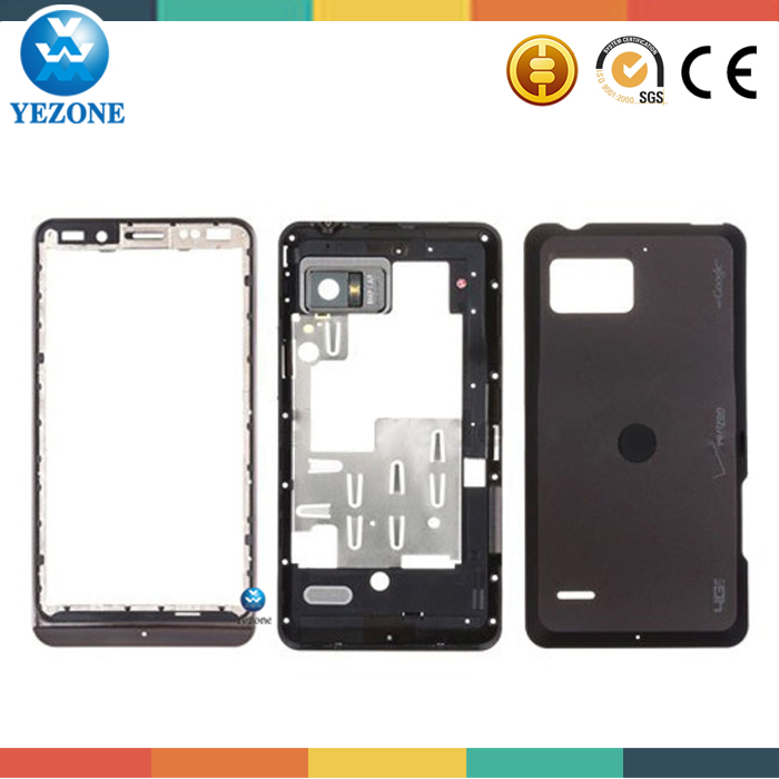 Original New Black Color Middle Plate +Back Cover Repair Parts For Motorola XT875 Droid Bionic Targa Full Housing Cover Case