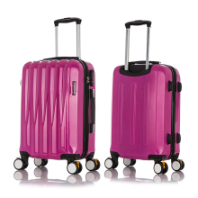 Pink Color 210D Polyester 3Pieces Lightweight Travel luggage