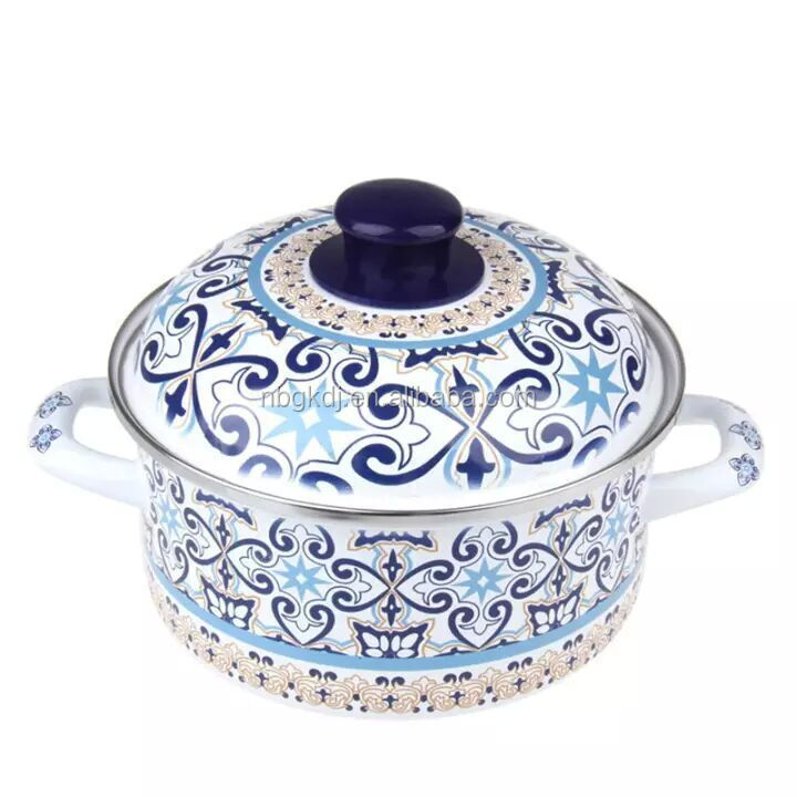 2015 high quality porcelain healthy enamel cast iron cookware