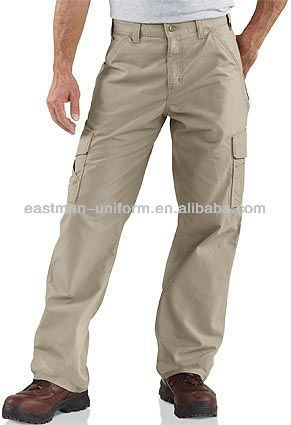 customized mens cotton polyester cargo working long pants uniform