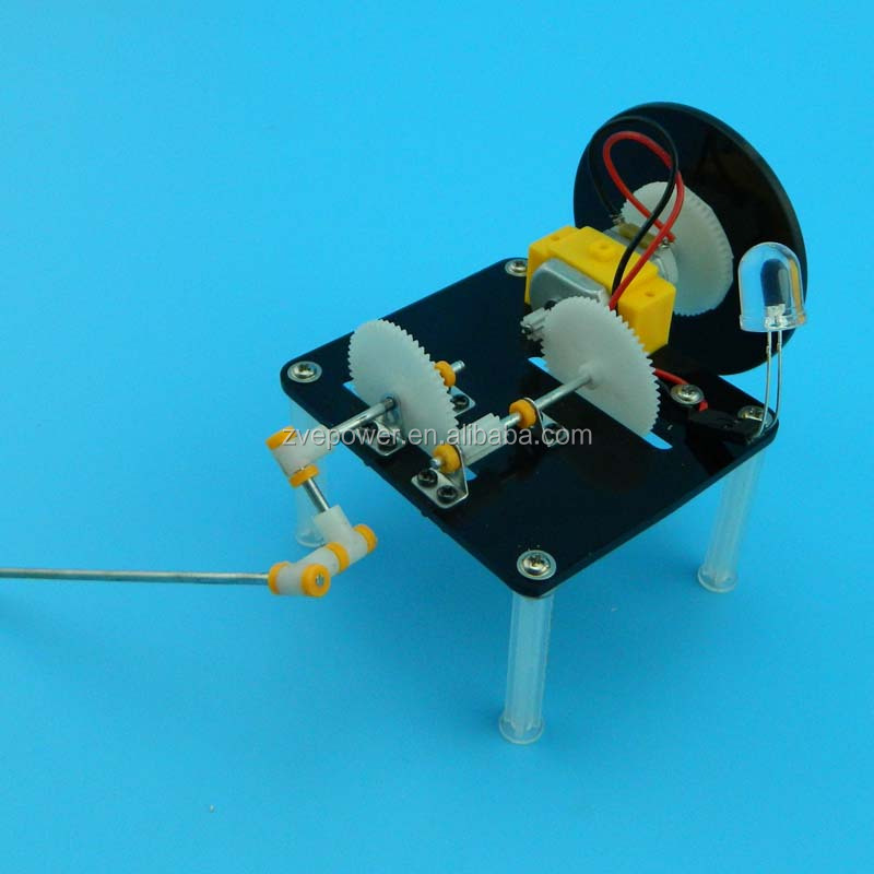 DIY hand-cranked generator hands-on production gizmos assembled DC generator