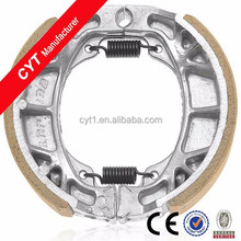 WY125 White Motorcycle Parts Wear Resistant Brake Shoe