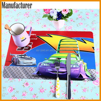 AY Customized 3D Stereo Table Runner Dining Mat Heat Resistant Table Mats Rubber Mat, Custom Plastic Table Placemat