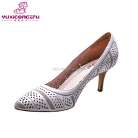 Newest handmade lady fashion genuine leather high heel woman cheap shoes
