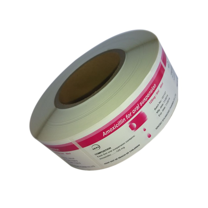 Custom Printed Roll Adhesive 10ml Bottle Label Printing