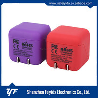 USB Wall Charger for iPhone 3 & 4 4S iPod iPad and Mobile - Purple Color