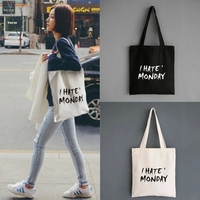 fashion custom printed cotton canvas tote bag with custom printing