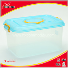 Clear lock plastic boxes storage