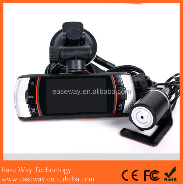 <strong>K</strong>-A1 car rear view bluetooth camera , dual lens dash cam with GPS vehicle blackbox night vision car camera