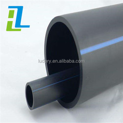 PE100 HDPE pipe polyethylene pipe PN10 PN 16 black HDPE water plastic pipes price list