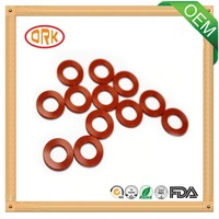Red Silicone good tensile round rubber gasket