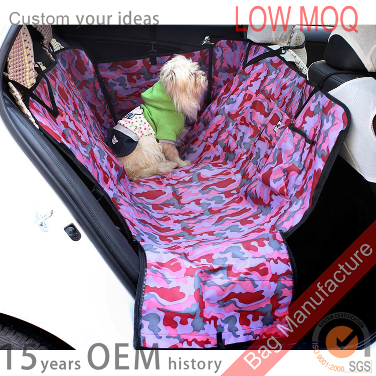 Luxury camouflage automotive dog accessories hammock pet seat cover