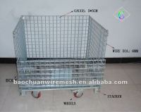 Folding collapsible stackable removable metal mesh security cage