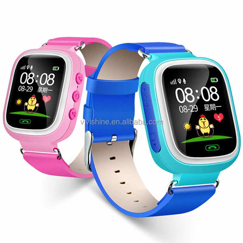 Best gift for Kids children smart watch q60 kids gsm gps tracker watch with Phone number