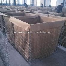 Galvanized gabion wall hesco bastion for military barrier/ blast wall barrier