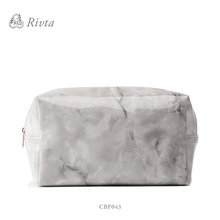 2017 trending products Fashion marble cosmetic bag travel plain makeup bag for women
