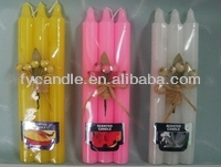 Cylindrical candle, pointed bamboo candles, torches, candles